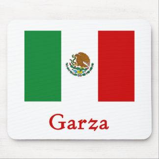 Bandera mexicana de Garza Tapete De Ratón