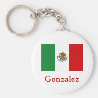 Bandera mexicana de Gonzalez Llavero Redondo Tipo Pin