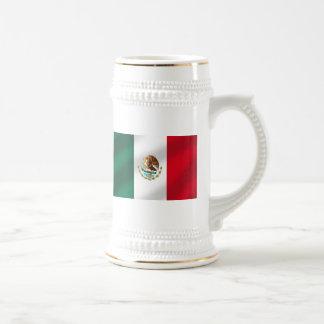 Bandera mexicana de las camisetas y de los regalos tazas