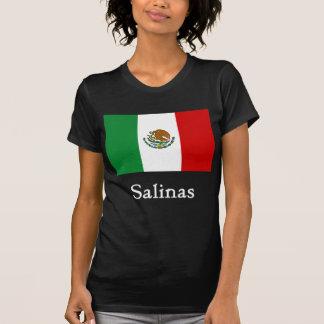 Bandera mexicana de las salinas camisetas