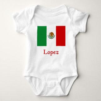 Bandera mexicana de López Body Para Bebé