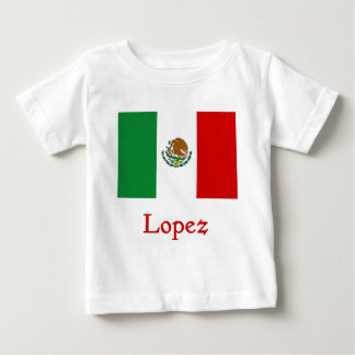 Bandera mexicana de López Playera De Bebé