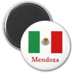 Bandera mexicana de Mendoza Imán Redondo 5 Cm