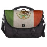 Bandera mexicana de México del Grunge fresco Bolsa Para Ordenador