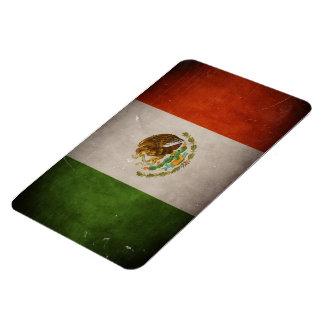 Bandera mexicana de México del Grunge fresco Iman Rectangular