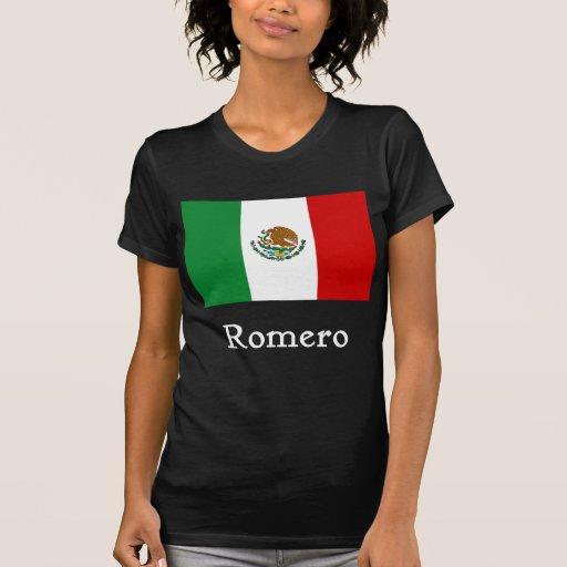 Bandera mexicana de Romero Camiseta