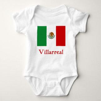 Bandera mexicana de Villarreal Body Para Bebé