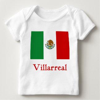 Bandera mexicana de Villarreal Playera De Bebé
