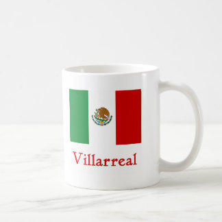 Bandera mexicana de Villarreal Taza De Café
