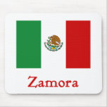 Bandera mexicana de Zamora Alfombrilla De Ratones