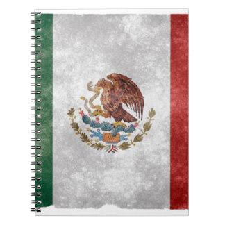 Bandera mexicana del Grunge Notebook