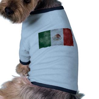 Bandera mexicana del Grunge Camisa De Perro