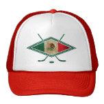 Bandera mexicana del hockey sobre hielo gorro de camionero