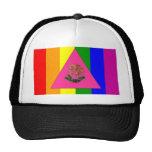 Bandera mexicana del orgullo gay gorras