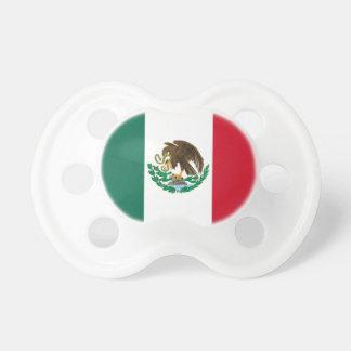 Bandera mexicana del pacificador del bebé chupetes de bebé