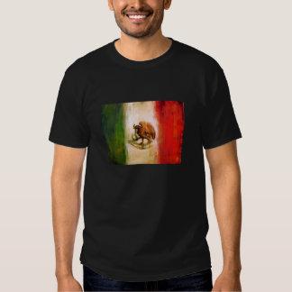 Bandera mexicana del vintage playera
