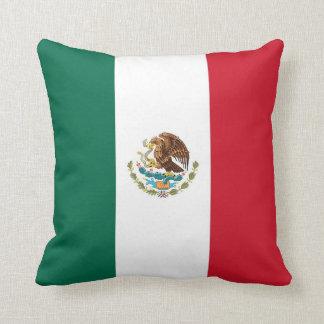 Bandera mexicana en la almohada de MoJo del americ