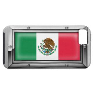 Bandera mexicana en un marco de acero funda para iPhone SE/5/5s