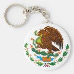 Bandera mexicana/escudo de armas mexicano llavero
