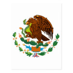 Bandera mexicana/escudo de armas mexicano postales