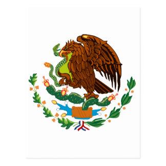 Bandera mexicana escudo de armas mexicano postales