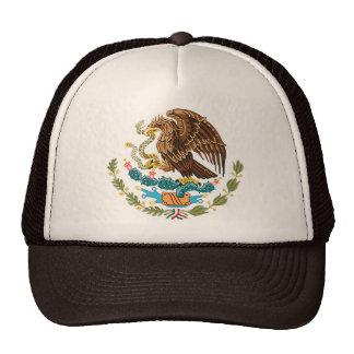 BANDERA MEXICANA - ESTILO DE MÉXICO - ESCUDO DE AR GORRAS DE CAMIONERO