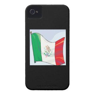 Bandera mexicana iPhone 4 Case-Mate carcasas