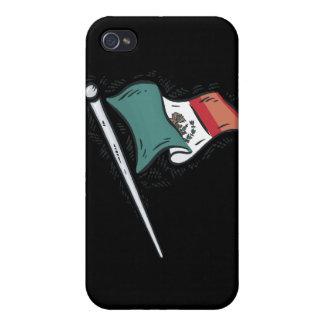 Bandera mexicana iPhone 4 cárcasas
