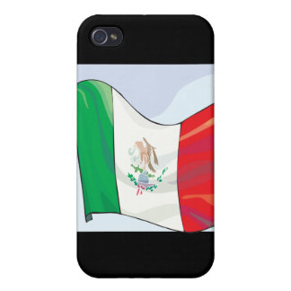 Bandera mexicana iPhone 4 fundas