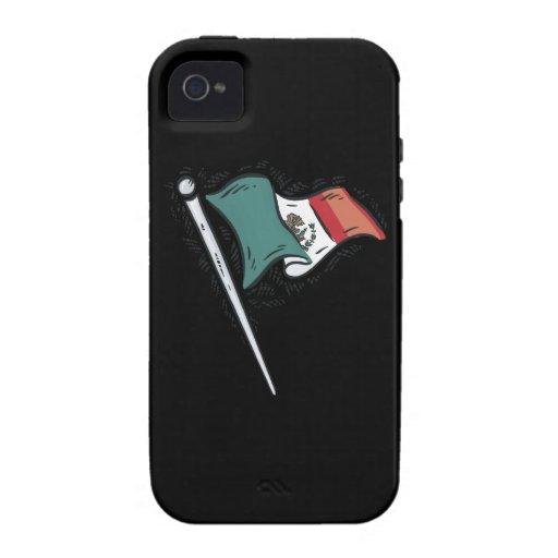 Bandera mexicana iPhone 4/4S funda