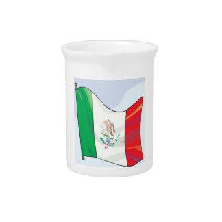 Bandera mexicana jarras de beber