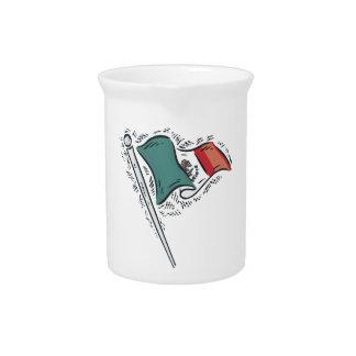 Bandera mexicana jarras para bebida