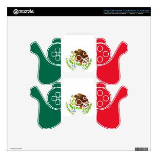 Bandera mexicana mando PS3 calcomanía