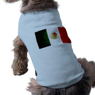 Bandera mexicana nerviosa moderna playera sin mangas para perro