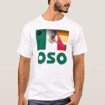 Bandera mexicana Oso del orgullo del oso Playera