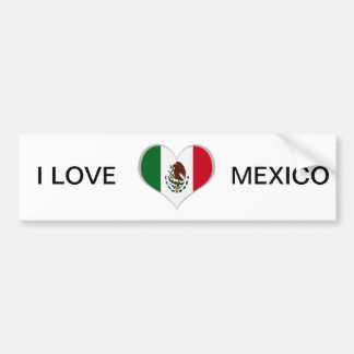 Bandera mexicana pegatina para auto