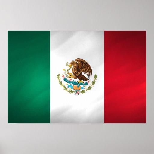 Bandera mexicana poster
