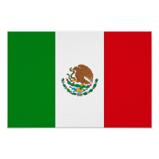 Bandera mexicana póster
