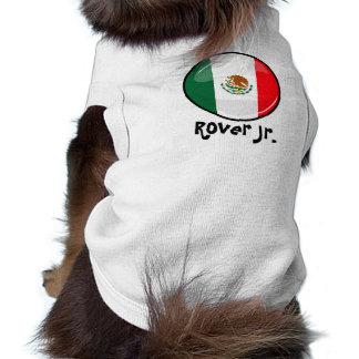 Bandera mexicana redonda brillante ropa de mascota