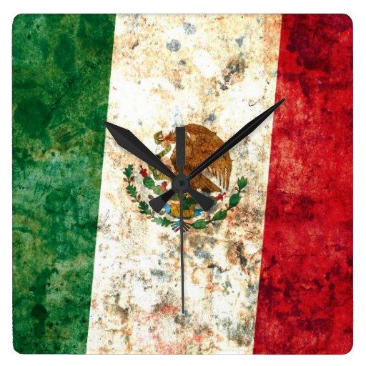 Bandera mexicana reloj