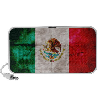Bandera mexicana resistida altavoz de viaje