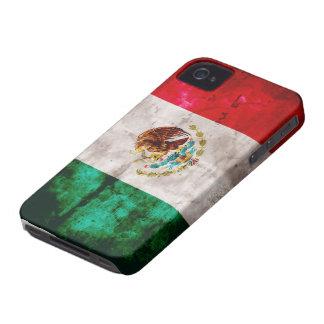Bandera mexicana resistida iPhone 4 funda