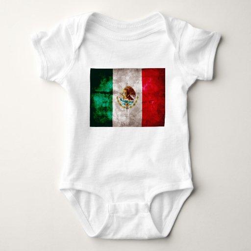 Bandera mexicana resistida playeras