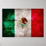 Bandera mexicana resistida póster