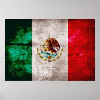 Bandera mexicana resistida posters