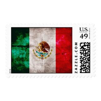 Bandera mexicana resistida franqueo