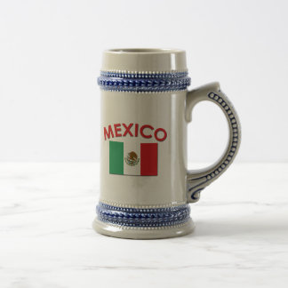 Bandera mexicana (roja) taza de café