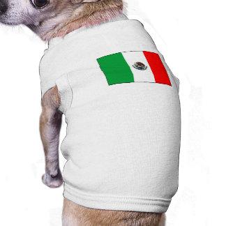 Bandera mexicana camisetas mascota