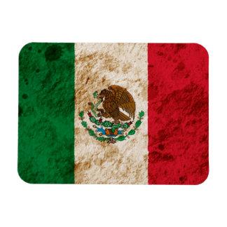 Bandera mexicana rugosa imanes rectangulares