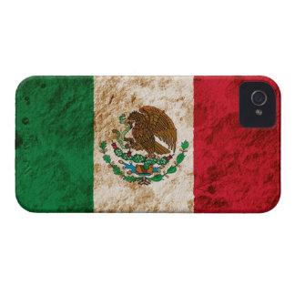 Bandera mexicana rugosa iPhone 4 Case-Mate cárcasas